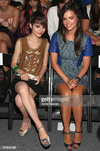Sami Gayle and Katie Lee attend the Tracy Reese Spring 2013 fashion show during for TRESemme during MercedesBenz Fashion Week at The Studio at...
