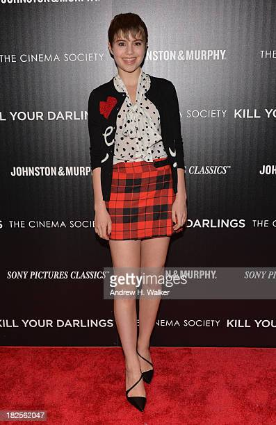 Sami Gayle attends The Cinema Society and Johnston Murphy screening of Sony Pictures Classics' Kill Your Darlings at Paris Theater on September 30...