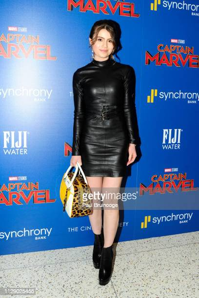 Sami Gayle attends The Cinema Society With Synchrony Bank And FIJI Water Host A Special Screening Of Marvel Studios' Captain Marvel at Henry R Luce...