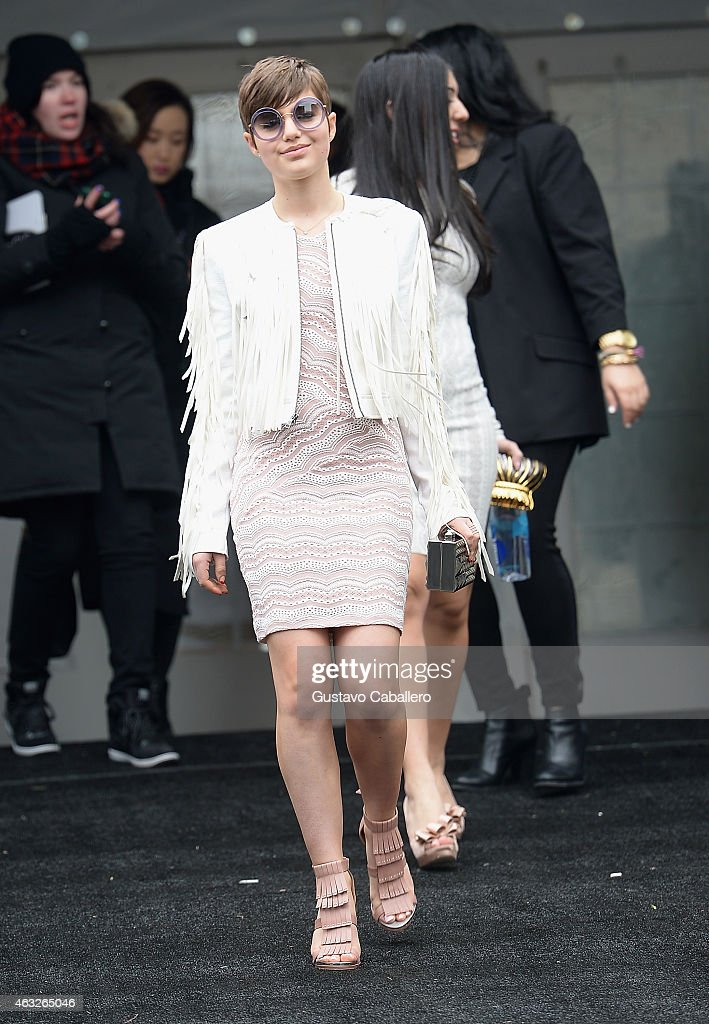 Sami Gayle is seen around Lincoln Center - Day 1 - Mercedes-Benz Fashion Week Fall 2015 at Lincoln Center for the Performing Arts on February 12, 2015 in New York City.