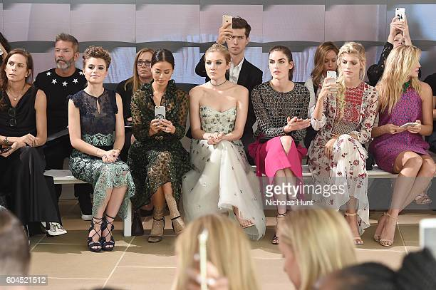 Sami Gayle Jamie Chung Jaime King Devon Windsor and Rachel Hilbert attend the Monique Lhuillier fashion show during New York Fashion Week September...