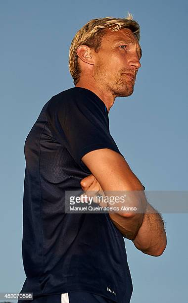 Sami Hyypia manager of Brighton Hove Albion looks on during the friendly match between Brighton Hove Albion and Partick Thistle at Arena Football...