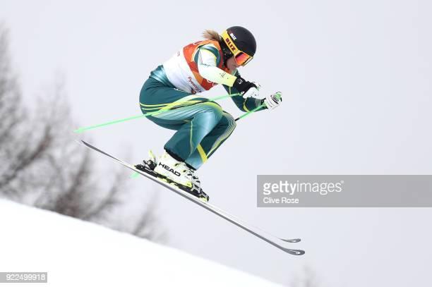 Sami KennedySim of Australia competes during the Freestyle Skiing Ladies' Ski Cross Seeding on day thirteen of the PyeongChang 2018 Winter Olympic...