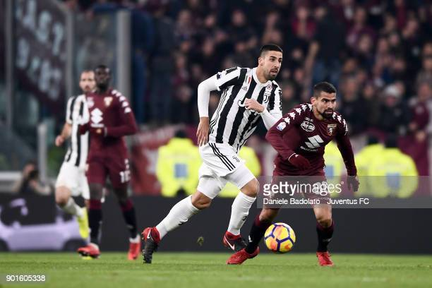 Sami Khedira and Tomas Rincon during the TIM Cup match between Juventus and Torino FC at Allianz Stadium on January 3 20