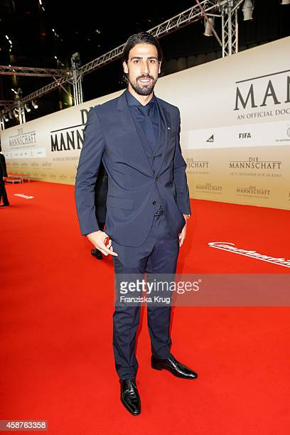 Sami Khedira attends the 'Die Mannschaft' Premiere at Sony Centre on November 10 2014 in Berlin Germany