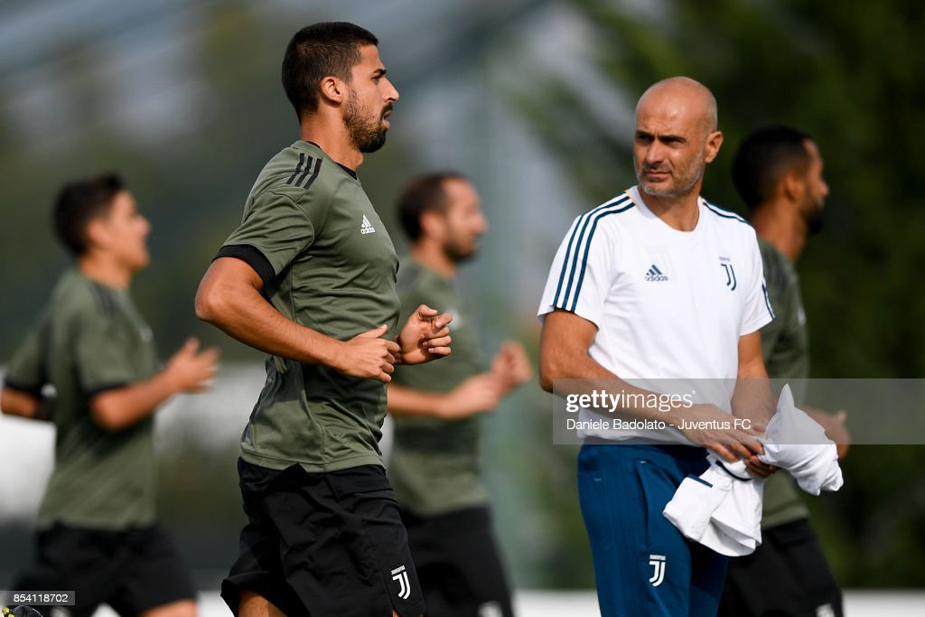 Sami Khedira during a Juventus Training Session at Juventus Center Vinovo on September 26, 2017 in Vinovo, Italy.