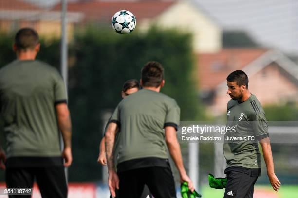 Sami Khedira during a Juventus Training Session at Juventus Center Vinovo on September 26 2017 in Vinovo Italy