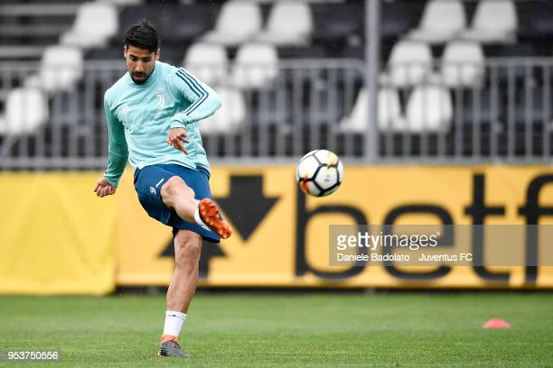Sami Khedira during the Juventus training session at Juventus Center Vinovo on May 2 2018 in Vinovo Italy