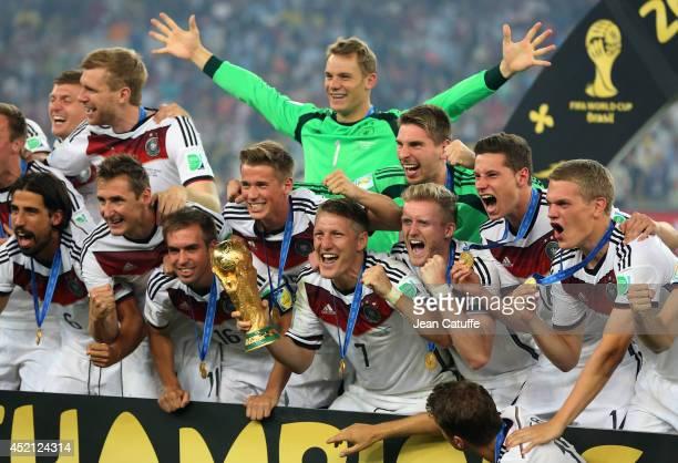 Sami Khedira Miroslav Klose Philipp Lahm goalkeeper of Germany Manuel Neuer Bastian Schweinsteiger Andre Schuerrle Julian Draxler of Germany...