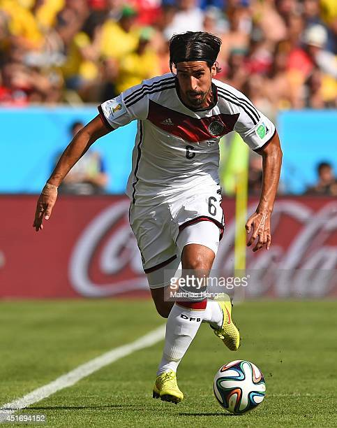 Sami Khedira of Germany controls the ball during the 2014 FIFA World Cup Brazil Quarter Final match between France and Germany at Maracana on July 4...