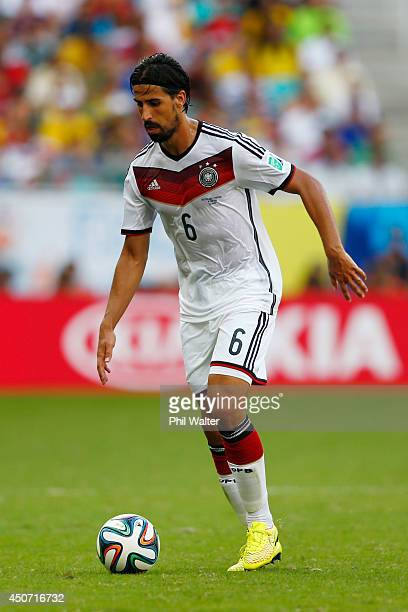 Sami Khedira of Germany during the 2014 FIFA World Cup Brazil Group G match between Germany and Portugal at Arena Fonte Nova on June 16 2014 in...