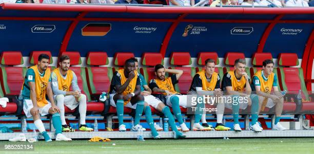 Sami Khedira of Germany Goalkeeper Kevin Trapp of Germany Antonio Ruediger of Germany Leon Goretzka of Germany Goalkeeper MarcAndre ter Stegen of...
