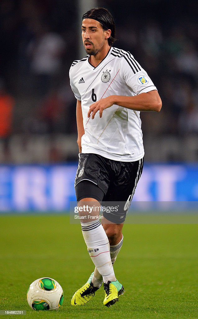 Sami Khedira of Germany in action during the FIFA world Cup 2014 qualification match between Germany and Republic of Ireland at the Rheinenergy stadium on October 11, 2013 in Cologne, Germany.