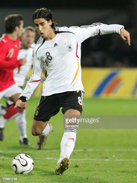 Sami Khedira of Germany in action during the Men's U20 international friendly match between Germany and Austria at the Guenther-Volker Stadium on...