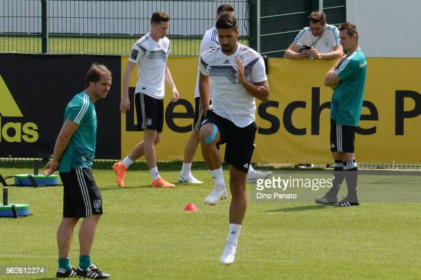 Sami Khedira of Germany in action during the Southern Tyrol Training Camp day four on May 26 2018 in Eppan Italy