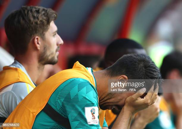 Sami Khedira of Germany looks dejected following his sides defeat in the 2018 FIFA World Cup Russia group F match between Korea Republic and Germany...