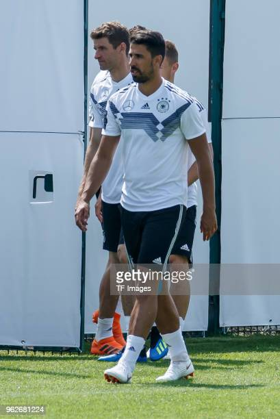 Sami Khedira of Germany looks on during the Southern Tyrol Training Camp day four on May 26 2018 in Eppan Italy