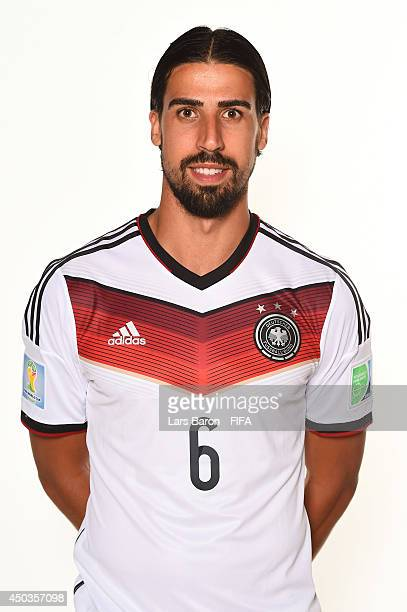 Sami Khedira of Germany poses during the official FIFA World Cup 2014 portrait session on June 8 2014 in Salvador Brazil