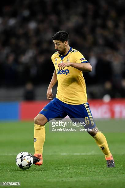 Sami Khedira of Juventus during the UEFA Champions League Round of 16 Second Leg match between Tottenham Hotspur and Juventus at Wembley Stadium on...