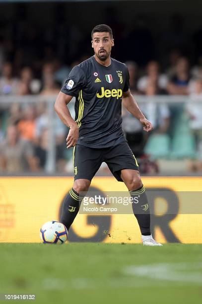 Sami Khedira of Juventus FC in action during the Serie A football match between AC ChievoVerona and Juventus FC Juventus FC won 32 over AC...