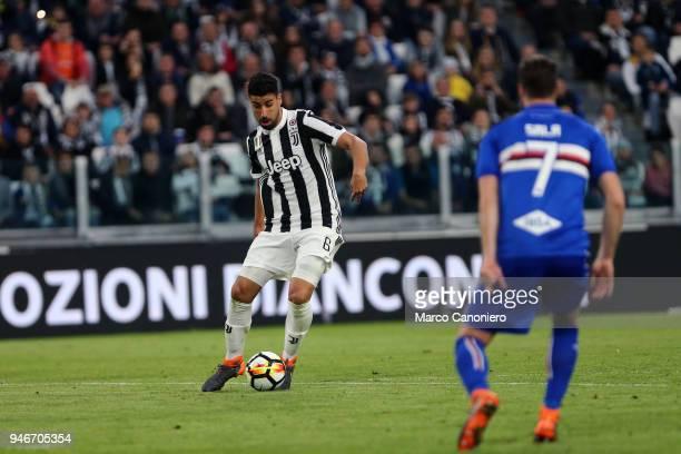 Sami Khedira of Juventus FC in action during the Serie A football match between Juventus FC and Uc Sampdoria Juventus Fc wins 30 over Uc Sampdoria