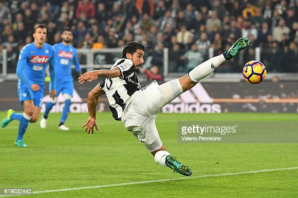 Sami Khedira of Juventus FC in action during the Serie A match between Juventus FC and SSC Napoli at Juventus Stadium on October 29 2016 in Turin...