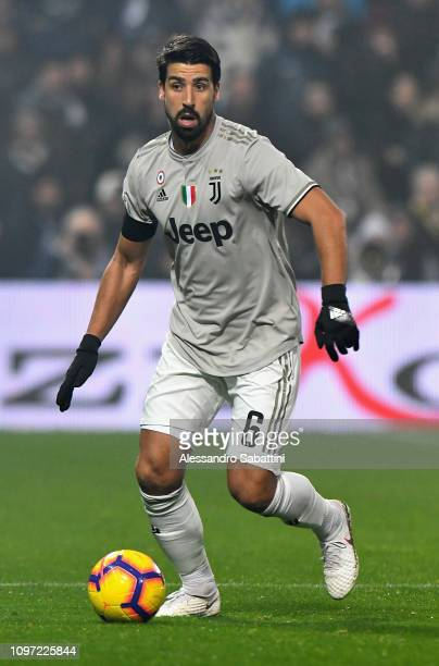 Sami Khedira of Juventus in action during the Serie A match between US Sassuolo and Juventus at Mapei Stadium Citta' del Tricolore on February 10...