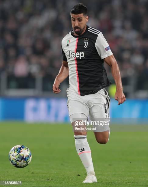 Sami Khedira of Juventus in action during the UEFA Champions League group D match between Juventus and Lokomotiv Moskva at Allianz Stadium on October...