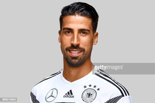 Sami Khedira poses for a photo during a portrait session ahead of the 2018 FIFA World Cup Russia at Eppan training ground on June 5 2018 in Eppan...