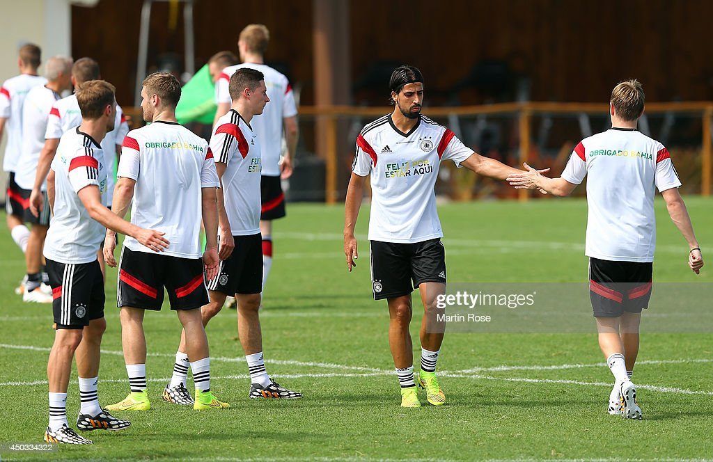 Germany Training & Press Conference - 2014 FIFA World Cup Brazil : News Photo