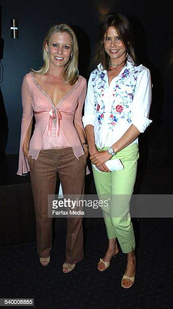 Sami Lukis and Antonia Kidman at the Royal Hospital for Women Mother's Day appeal launch at the Sydney Swans Club Lounge, SCG, 29 March 2006. SHD...