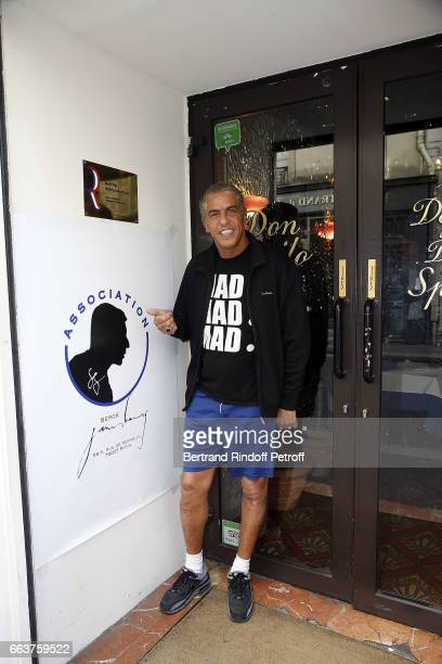 Sami Naceri attends 'L'Association Serge Gainsbourg give a Tribute to Serge Gainsbourg' at Cabaret Don Camillo on April 2 2017 in Paris France