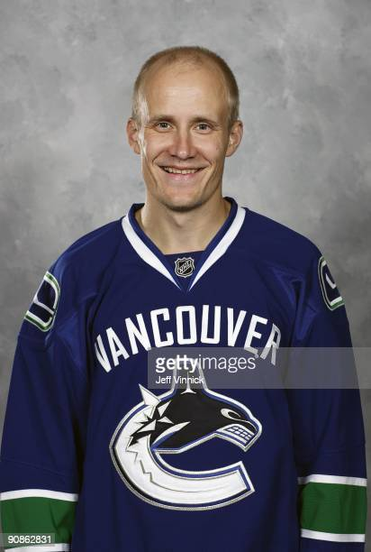 Sami Salo of the Vancouver Canucks poses for his official headshot for the 20092010 NHL season in Vancouver British Columbia Canada