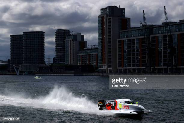 Sami Selio of Finland and MadCroc BABA Racing in action during qualifying for round two of the 2018 Championship the F1H2O UIM Powerboat World...