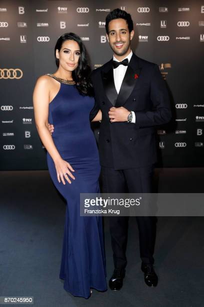 Sami Slimani and his sister Lamiya Slimani attend the 24th Opera Gala at Deutsche Oper Berlin on November 4 2017 in Berlin Germany