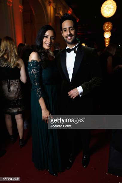 Sami Slimani and his sister Lamiya Slimani attend the GQ Men of the year Award 2017 after show party at Komische Oper on November 9 2017 in Berlin...