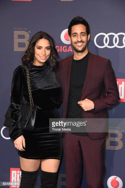 Sami Slimani and his sister Lamiya Slimani attend the PLACE TO B Party at Borchardt on February 11 2017 in Berlin Germany