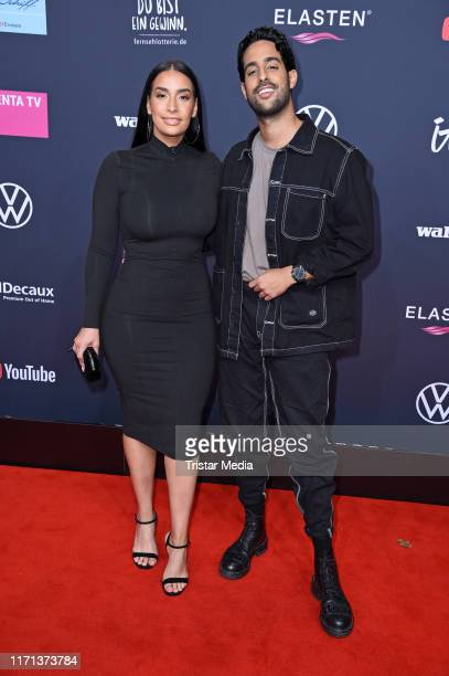 Sami Slimani and his sister Lamiya Slimani attend the YouTube Goldene Kamera Digital Awards at Kraftwerk on September 26 2019 in Berlin Germany
