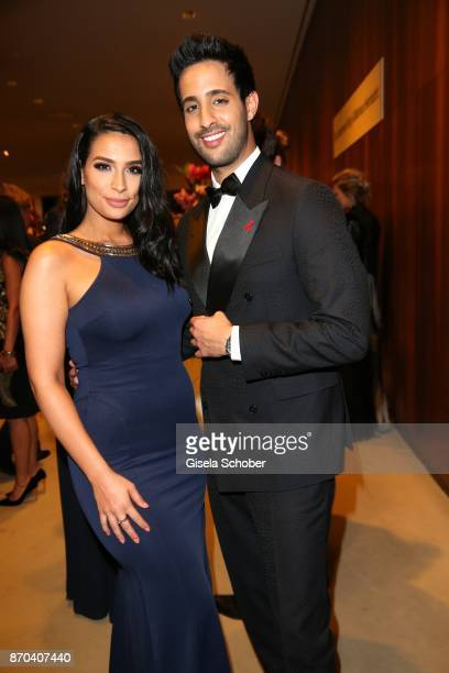 Sami Slimani and his sister Lamiya Slimani during the 24th Opera Gala benefit to Deutsche AidsStiftung at Deutsche Oper Berlin on November 4 2017 in...