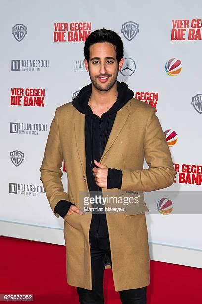 sami Slimani attends the German premiere of the film 'Vier gegen die Bank' at CineStar on December 13 2016 in Berlin Germany