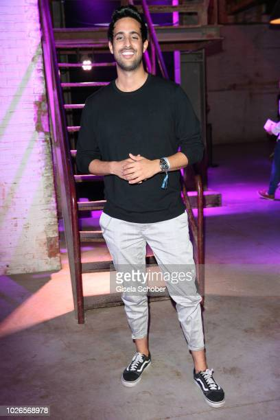 Sami Slimani during the 'Dua Lipa x Jaguar The PACE 'Season One' Launch on September 3 2018 In Amsterdam Netherland The event is the start of a...
