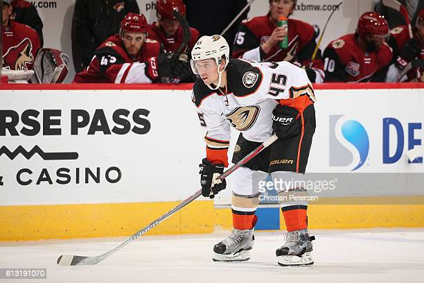 Sami Vatanen of the Anaheim Ducks in action during the preseason NHL game against Arizona Coyotes at Gila River Arena on October 1 2016 in Glendale...