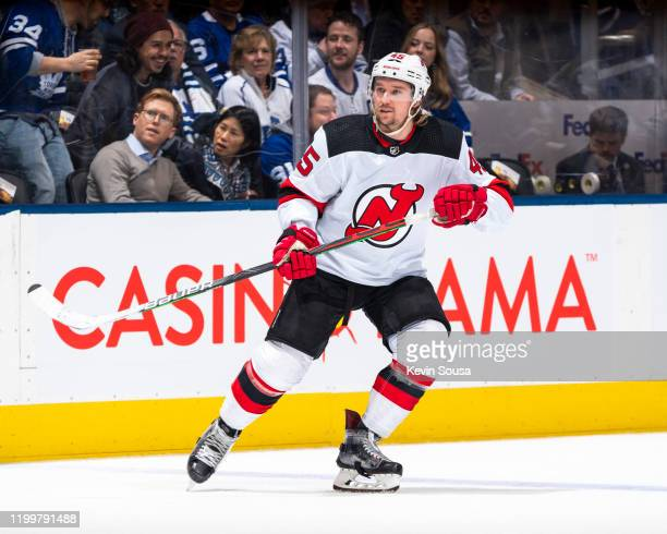 Sami Vatanen of the New Jersey Devils skates against the Toronto Maple Leafs during the first period at the Scotiabank Arena on January 14, 2020 in...