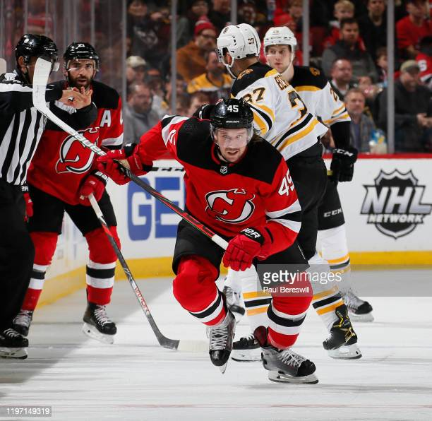 Sami Vatanen of the New Jersey Devils skates during an NHL hockey game against the Boston Bruins on December 31, 2019 at the Prudential Center in...