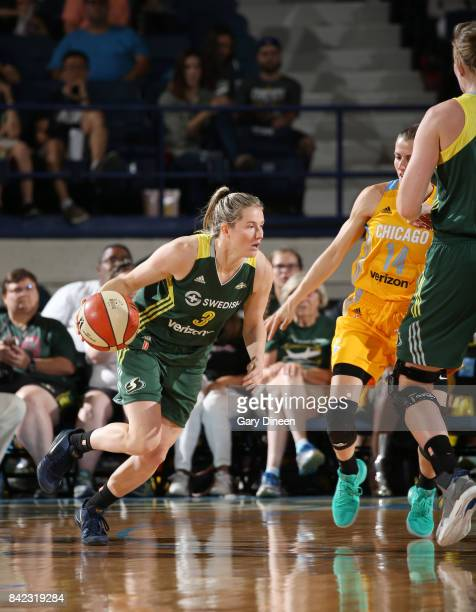 Sami Whitcomb of the Seattle Storm drives to the basket against the Chicago Sky on September 3 2017 at Allstate Arena in Rosemont IL NOTE TO USER...