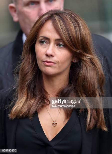 Samia Ghadie attends the funeral of Liz Dawn at Salford Cathedral on October 6 2017 in Salford England Actress Liz Dawn played Vera Duckworth in...