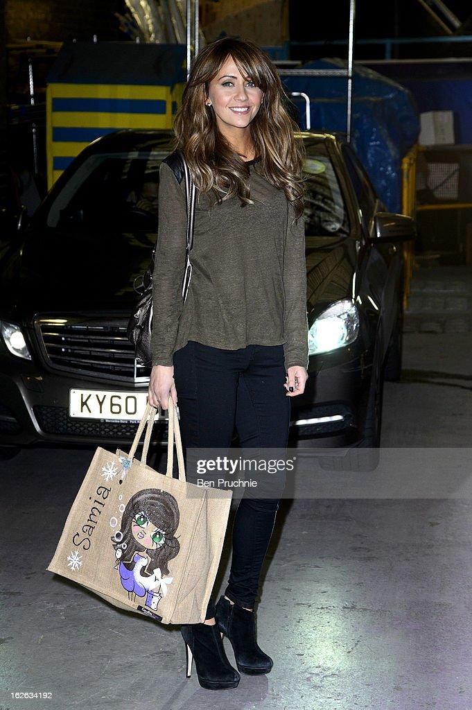 Samia Ghadie Sighting In London - February 25, 2013