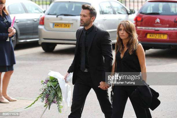 Samia Longchambon arrives at Salford Cathedral on October 6 2017 in Salford England Actress Liz Dawn who died aged 77 played Vera Duckworth in...