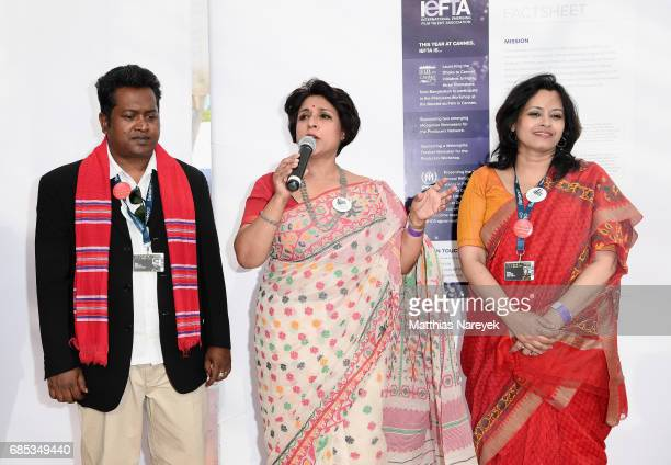 Samia Zaman attends From Dhaka to Cannes A Celebration of Talent hosted by the International Emerging Film Talent Association at La Plage Royale on...