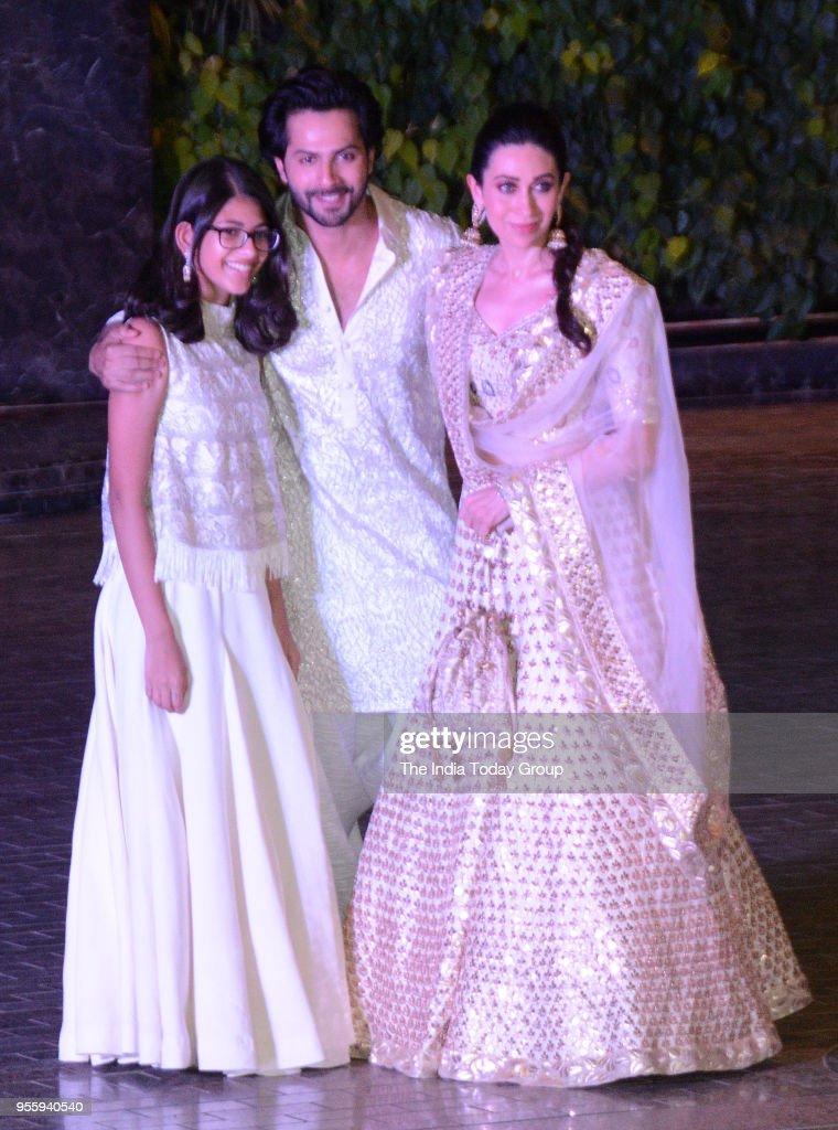 Samiera Kapoor Karisma Kapoor and Varun Dhawan attends Sonam Kapoor and Anand Ahuja`s Sangeet Ceremony in Mumbai